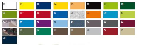 Dostępne kolory odzieży reklamowej Promostars
