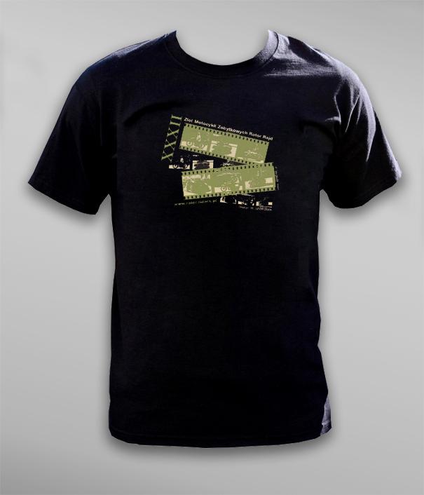T-shirty XXXII rajdu motocykli zabytkowych Rotor