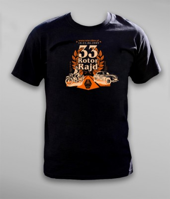 T-shirt XXXIII rajdu motocykli zabytkowych Rotor