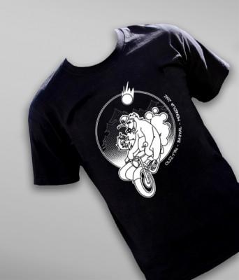 """Koszulka na wyprawę motocyklową """"Uralem przez tajgę"""""""