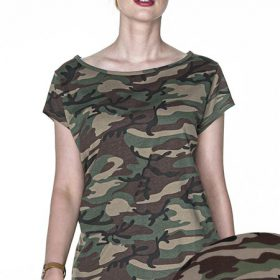 T-shirt Crimson Cut Camo Lady