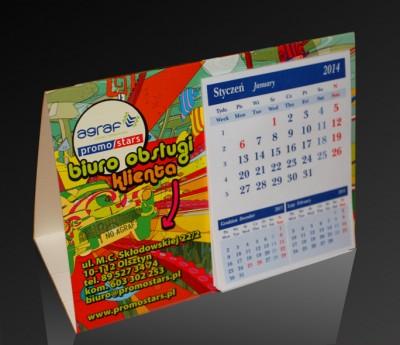 Kalendarz trójkątny Agraf Promostars 2014