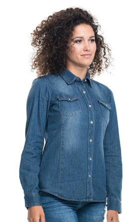 Shirts Promostars Ladies' Blue Jeans