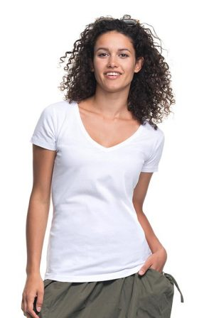 T-shirt Promostars Ladies' V-neck