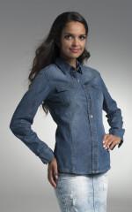 Koszule Promostars Ladies' Blue Jeans