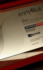 Certyfikat autoryzowanego dystrybutora Promostars i Geffer