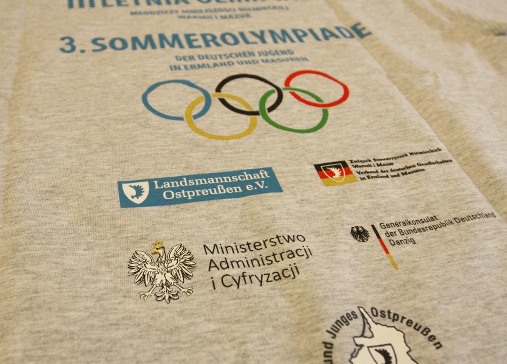 Koszulka na 3. Letnią Olimpiadę Młodzieży Mniejszości Niemieckiej
