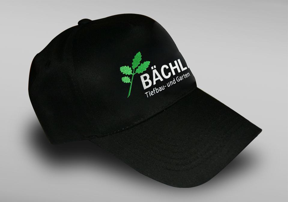 Czapki z haftem dla Bächli Tiefbau
