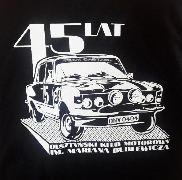 Koszulki na 45-lecie Olsztyńskiego Klubu Motorowego