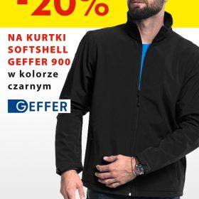 Promocja! 20% zniżki na czarne kurtki Softshell Geffer 900