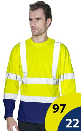 T-shirt Mark The Helper Hi-Vis Long